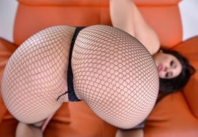 black hair, nice, arse, bum, fishnet, pantyhose, hi-q, close up, sexy, ass wallpaper