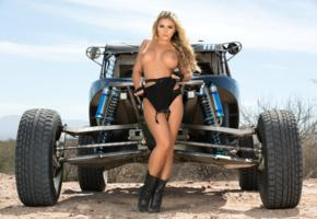 tahlia paris, blonde, dunebuggy, swimsuit, topless, big tits, boots, hi-q