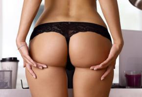 cara mell, rena, sexy girl, adult model, ass, butt, buttocks, hips, panties, black panties, sexy ass