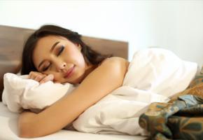 sakura, asian, sleeping, bed, beauty, girl, brunette, smile