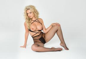 jessica nelson, blonde, sexy girl, hot girl, big tits, boobs, pantyhose, fishnet, lingerie