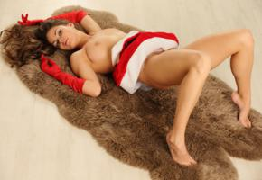 katelin, christmas, tis, rug, boobs, big tits, maza, brunette