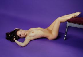 meli x, sweet, cute, sexy girl, adult model, boobs, tits, nude, brunette, legs