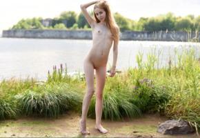 marika, marika b, sissi t, model, teen, tiny tits, tits, slim, skinny, pussy, shaved pussy, nude, outdoors