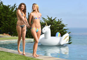 kenna, elena koshka, hot girls, sexy girls, pool, bikini