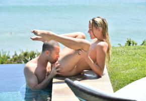 kenna, born, oral sex, nude, naked, cunnilingus, lick pussy, wet, pool, sexy legs, kenna james