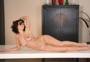 pammie lee, brunette, sexy girl, adult model, boobs, tits, shaved, nude