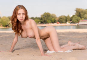 helga g, redhead, petite, beach, naked, big tits, ass, ultra hi-q, doggy, boobs, big nipples, helga grey