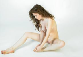estelle, sexy, girl, adult model, big tits, boobs, tits, shaved pussy, nude, brunette