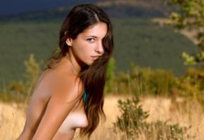 hailey, diana i, rosella, verona, brunette, outdoors, naked, tanlines, small tits, puffy nipples, hi-q