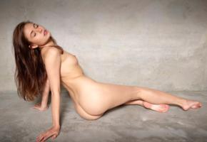 hilary c, aksana k, jane y, liana c, model, pretty, brunette, long hair, perfect girl, tits, bum, ass, perfect body, nude
