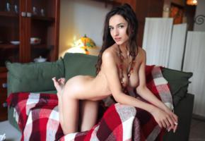 gloria sol, aaliyah, penelope y, sofieq, sofiya oleinik, model, pretty, awesome, babe, dark hair, smile, sweet, perfect girl, big tits, perfect tits, boobs, nude, sofa