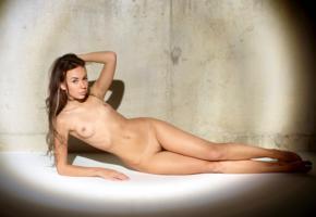 sheri vi, joanna, darina, genie, karina, divina, model, pretty, awesome, babe, brunette, russian, sensual lips, perfect girl, small tits, piercing, shaved pussy, nude, perfect body