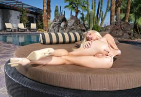 alex grey, model, pretty, babe, pussy, shaved pussy, anus, finger in anus, bum, ass, perfect ass, perfect body, legs, stilettos, outdoors