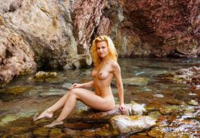 ariel, nude, naked, outdoor, sexy girl, water, tits, legs, sea