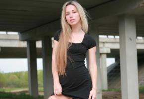 natalia b, erotic beauty, gone wild, blonde cutie, black dress