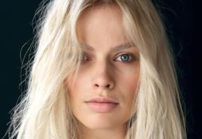 margot robbie, model, actress, blonde, blue eyes, sensual lips, face, australian, aussie
