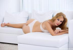 genevieve gandi, marianna merkulova, xana d, sexy girl, adult model, lingerie, white lingerie, white panties, panties