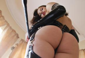 aksana, young, brunette, russian, sexy babe, close up, nice rack, sexy ass, shiny, pvc, whip, little mistress, fetish babe, ass, aksana k