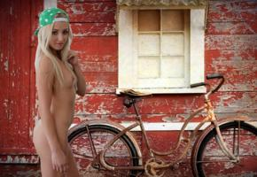 cayla lyons, cayla, hannah, kayla lyon, blonde, bike, naked, small tits, ass, hat, hi-q