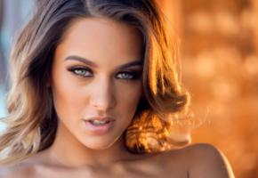 uma jolie, belicia segura, belicia, luna, madeline clark, model, babe, brunette, green eyes, sensual lips, beautiful, face