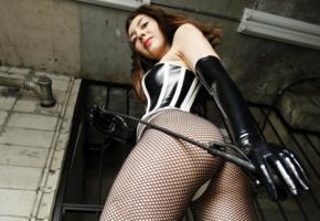 maria, brunette, russian, fetish babe, sexy ass, pvc, lingerie, fishnet, pantyhose, point of view, little mistress, whip, maria o