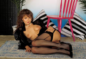 amanda long, stockings, ass, pussy, smile, retro, fishnet, tits