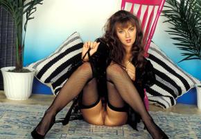 amanda long, stockings, ass, pussy, retro, fishnet