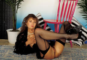 amanda long, stockings, ass, pussy, retro, fishnet, tits, haired pussy