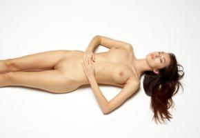 nicolette, model, babe, brunette, sensual lips, poland, big tits, tits, pussy, shaved pussy, nude