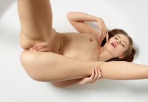 hilary c, aksana k, jane j, liana c, model, babe, brunette, sensual lips, tits, nipples, pussy, shaved pussy, labia, open legs, nude