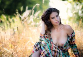 dominique, art, beauty, outdoor, girl, boobs, sexy, tits