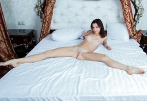 aurmi, model, babe, young, smile, republic of macedonia, fyrom, small tits, open legs, pussy, shaved pussy, labia, legs, graceful feet, bed, bedroom, nude, skinny, beautiful legs, leggy