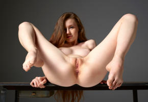 anne t, emily, tania fox, tanya r, tanya, model, babe, brunette, long hair, beautiful, tits, boobs, open legs, pussy, shaved pussy, labia, anus, bum, ass, graceful feet, polished nails, legs, nude, table, emily bloom