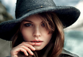 anastasia scheglova, top model, blonde, russian, blue eyes, hat, beautiful, face, 4k, uhd