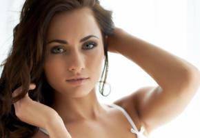michaela isizzu, mila k, kalena a, model, pretty, babe, brunette, sensual lips, face, cz republic, 4k, uhd