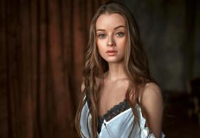 maria zhgenti, model, pretty, babe, blonde, blue eyes, russian, beautiful, face, 4k, uhd, georgy chernyadyev studio