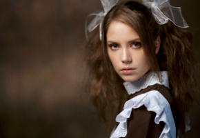 ksenia kokoreva, model, pretty, babe, brunette, russian, beautiful, face, 4k, uhd, schoolgirl