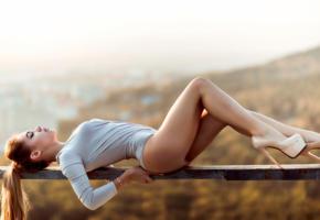 model, pretty, babe, russian, beautiful legs, stilettos, outdoors, long legs, high heels, sexy legs, non nude, 4k