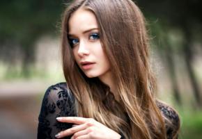 model, pretty, babe, brunette, russian, sensual lips, beautiful, face, denis petrov studio, 4k, uhd