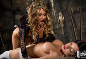 riley steele, jessica drake, lesbian, cosplay, snow white, wicked queen, tits, pornstar, boobs