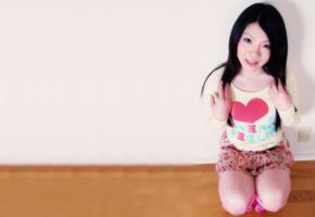 hiroko, asian, cute, sexy, non nude, skirt, brunette, 4k