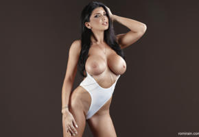 romi rain, tits, brunette, pornstar, boobs, big tits