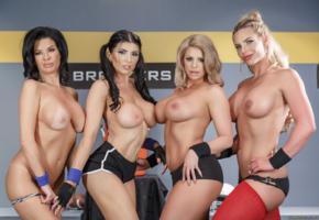 romi rain, veronica avluv, phoenix marie, brooklyn chase, tits, pornstar, brunette, boobs, big tits