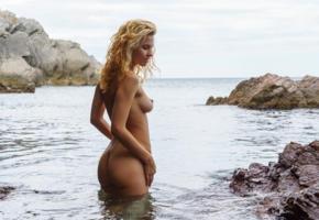 zarina a, walda, jeneya s, rada p, mina, ariel, blonde, water, naked, tits, perky nipples, ass, ultra hi-q, sea, beach