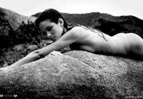 roberta murgo, sexy girl, tits, tanned, sea, tropics, brunette, ass, wet