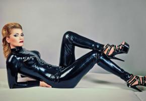 lady louise, german, domina, fetish model, shiny, rubber, catsuit, fullsuit, fetish babe, louise