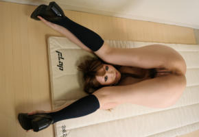 sarina tsubaki, pussy, asian, sexy, butt, cute, gravure, labia, legs up, knee socks, ass, anus