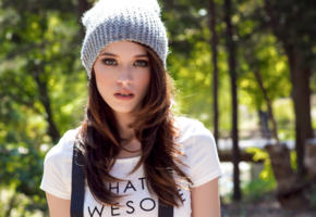 caitlin mcswain, model, pretty, babe, cap, sensual lips, beautiful, face, 4k, beanie