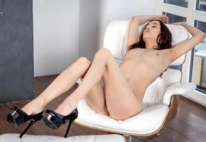 layna, model, pretty, russian, tits, pussy, beautiful legs, platform high heels, stilettos, nude, skinny